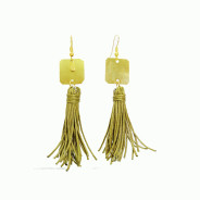 Brass Tassel dangle earrings