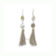 Inox| Taupe Tassel Dangle Earrings